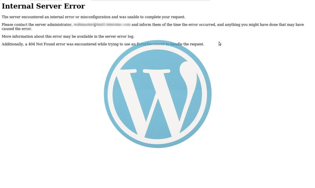 Errore 500 su Wordpress