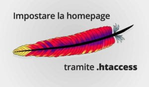 Come impostare la homepage tramite htaccess