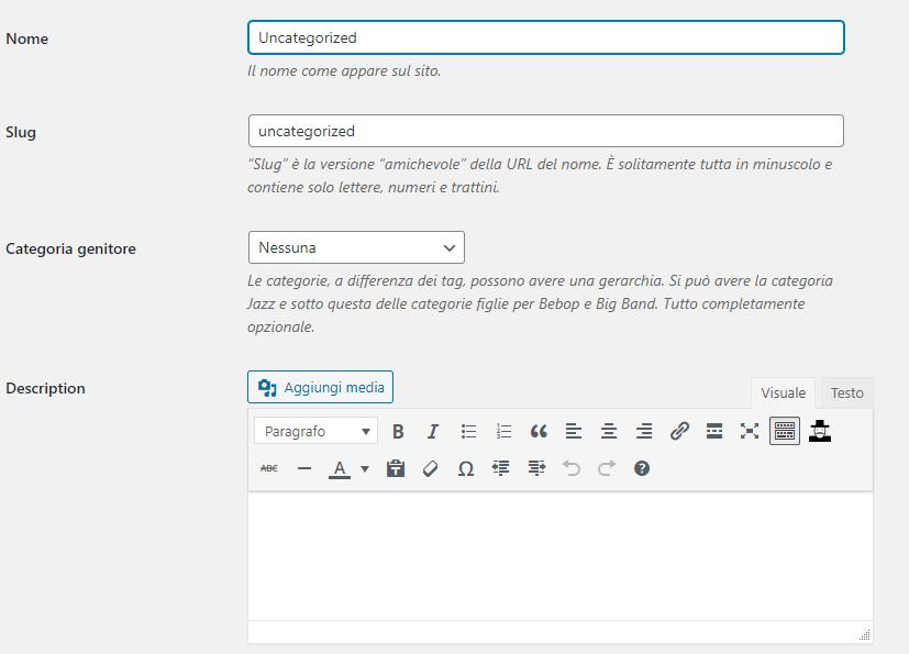 Come rimuovere Senza Categoria da WordPress: modificare la categoria predefinita di WordPress