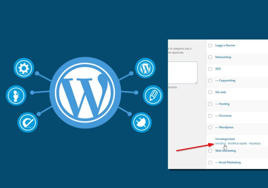 "Come rimuovere la categoria ""Senza Categoria"" o ""Uncategorized"" da Wordpress"