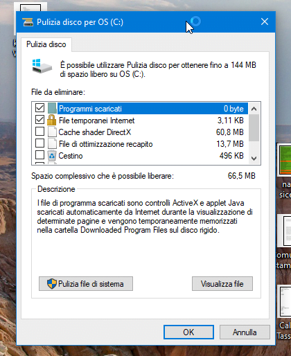 Come velocizzare Windows 10: Pulizia disco