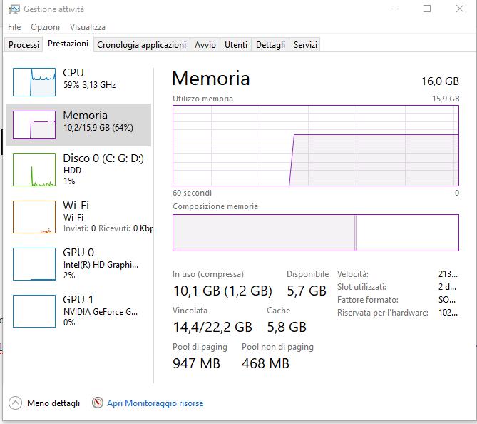 Come velocizzare Windows 10: aggiornare la memoria RAM
