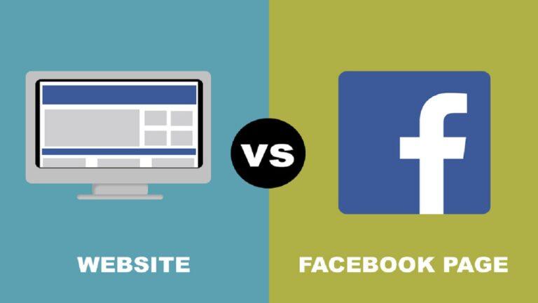 Meglio un sito web o una pagina Facebook?